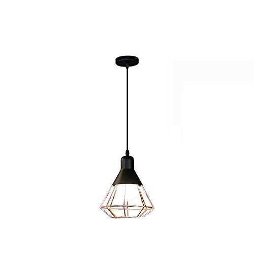 Zpzzy Nórdico Minimalista Estilo Pendiente de la luz de Hierro Forjado Diamante Droplight E27 Tornillo Grande de la Boca de la lámpara Conveniente para Comedor, Sala de Estar