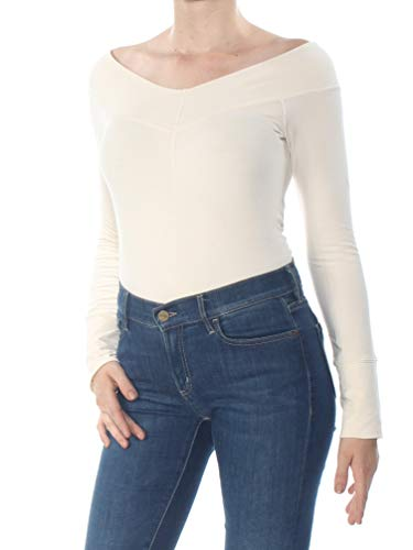 Free People Zone Out Bodysuit, Size Large - Ivory