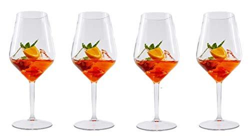 Stylgs hochwertige Tritan Weingläser Plastik | Unzerbrechlich Mehrweg Plastik Rotweinglas | Wiederverwendbar und Spülmaschinenfest | Plastikbecher im 4er Set