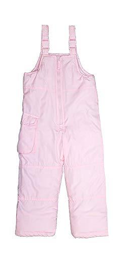 London Fog Girls' Little Classic Snow Bib Ski Snowsuit (2T, Light Pink Solid)