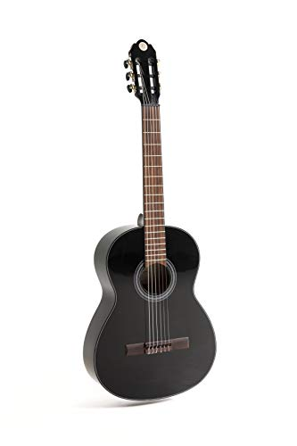 NAVARRA special dark moon NV122, chitarra classica 3/4, nero