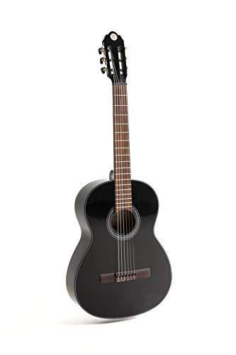 NAVARRA special dark moon NV122, guitarra clásica 3/4, negro
