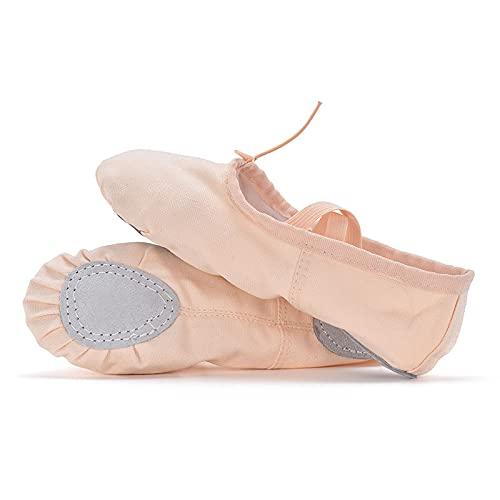 AGYE Zapatillas de Ballet Canvas, Zapatillas de Ballet Profesionales para Mujer,Zapatillas de Baile para Niñas, Zapatos de Yoga Gimnásticos de Lona,Pink-26