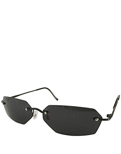 Agent Smith Style Sonnenbrille, Rahmenlos / Rauch Spiegel Linse