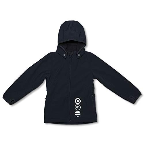 MINYMO Softshell Jacke für Mädchen und Jungen (Blaugrau, 146)