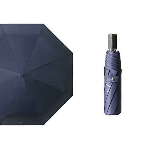 N/A Parapluie pliant en vinyle UV facile à transporter, Neuf contreplaqué UV, bleu marine., 535*8K