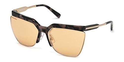 DSQUARED2 DQ0288 56Z 63 Monturas de gafas, Marrón (Avana/), 63.0 Unisex Adulto