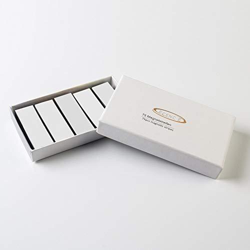 ECENCE 75 Magneetstrips beschrijfbaar - 60x20mm Wit - kleefstrips om op maat te snijden - uitwisbare magneetplaten - Magneetetiketten voor whiteboards, koelkasten, magneetbord