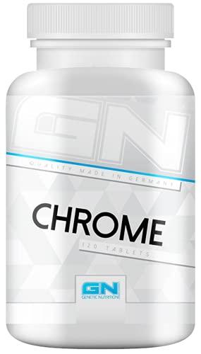 GN Laboratories Chrome Health Line Essentielles Spurenelement Zur Unterstütztung Von Gesundheit Fettabbau und Muskelaufbau 120 Tabletten