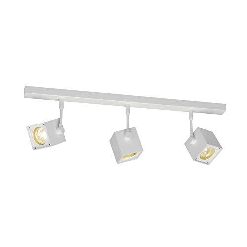 SLV Spot LED ALTRA DICE Orientable et Inclinable   applique et Plafonnier Variable pour Eclairage Intérieur, Spot LED   Projecteur de Plafond, Lampes de Plafond, Lampe Murale, 3 Lampes   GU10, E-A++