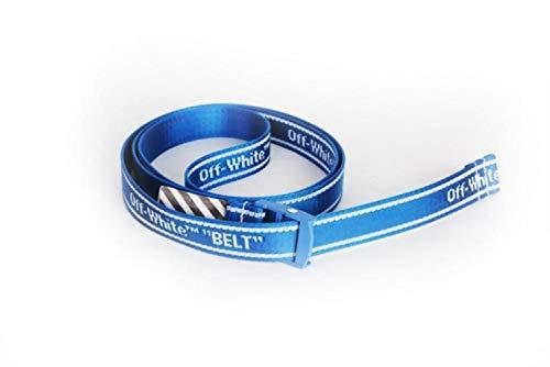 Hukat Cinturón Amarillo Estilo Industrial Lienzo Bordado Cinturón Hombres y Mujeres Faja Decoración Cinturones Moda, Azul 3,130cm
