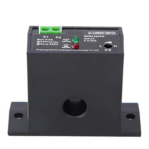 Interruptor de detección de corriente, interruptor de detección de corriente ajustable normalmente abierto/cerrado AC 0.2~30A apto para subestación(Normally open)