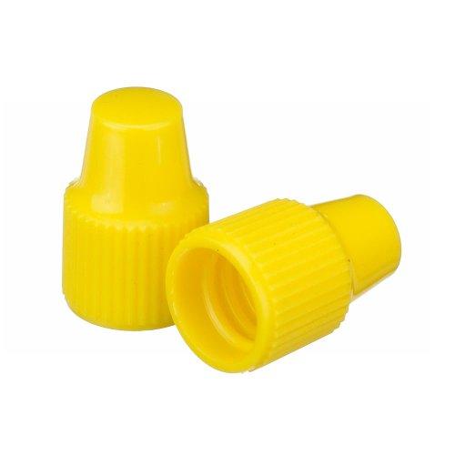 Wheaton 242508 Tropfflaschen-Verschluss, 8-425, Verwendung mit 8 mm Spitze und 1-3 mL Tropfflaschen, Gelb (100-er Pack)