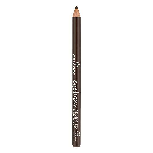 essence eyebrow DESIGNER, Nr. 02 brown, braun, verdichtend, definierend, vegan, Nanopartikel frei, ohne Parfüm (1g)