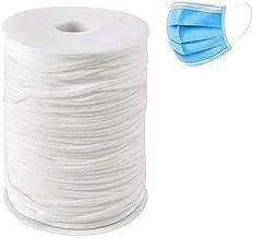 Maxee Weiß 120M 3MM Elastisches Gummikordel Nähen Gummiband für Gummilitze Wäscheband Gummizug Rundgummi für DIY Seil