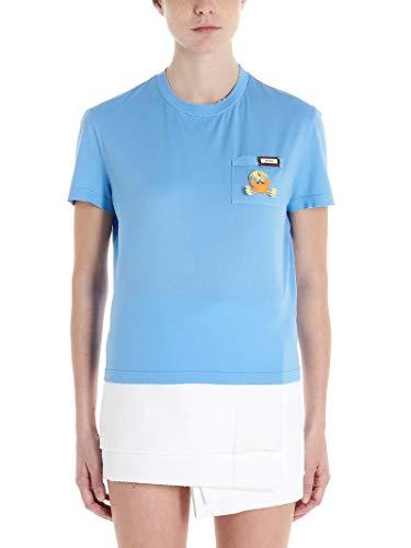 Prada Luxury Fashion Damen 3520ARS2011WYXF0MLJ Hellblau Baumwolle T-Shirt | Frühling Sommer 20