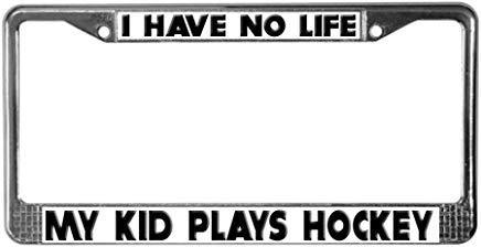 hockey mom license plate frame - 9