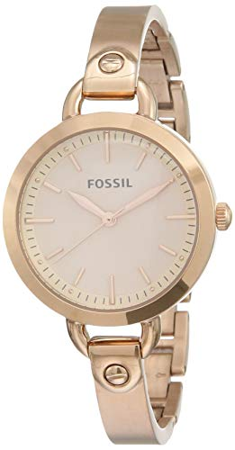 Fossil Analog Rose Gold Dial Women's Watch