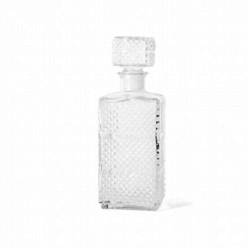 Gerimport Licorera de Cristal Luxe Medidas 10x8x28 cm Capacidad 1 Litro