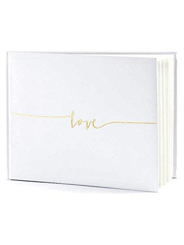 """Guestbook avorio con scritta oro """"LOVE"""""""