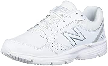 New Balance womens 411 V1 Walking Shoe, White/White, 8.5 Wide US