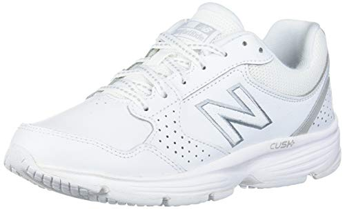 New Balance womens 411 V1 Walking Shoe, White/White, 7.5 Wide US