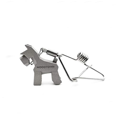 CQ Schnauzer Voiture Porte-clés Couple Porte-clés Creative Taille Simple Métal Animal Porte-clés Cadeau Unique