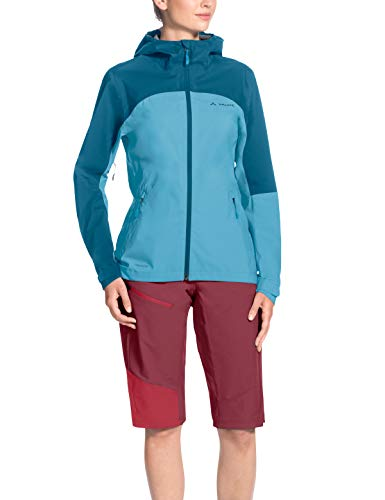 Vaude Damen Moab Rain Jacket Regenjacke für Mountainbikerinnen Jacke, Blau (Crystal Blue), 36 - 4