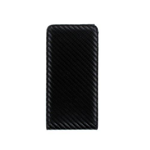 Colorfone Carbo Chic - Custodia con Patta ad Apertura Verticale, in Neoprene Blackberry Z10 Noir, Colore: Nero