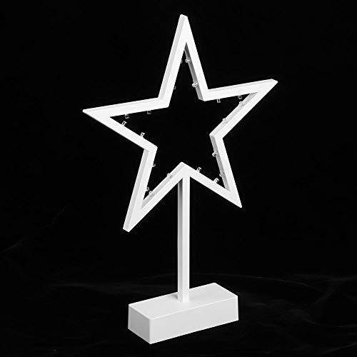 Andraw Lámpara de Mesa con Forma de Estrella de Material de PVC, luz de Noche LED Duradera, para exhibición en el hogar del Dormitorio