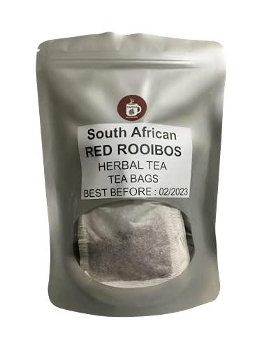 Premium Rooibos Tea Bags 100% All-natural Caffeine Free (30 Herbal Tea Bags)