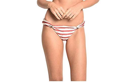 Lenny Niemeyer Agnes Adjustable Lycra Bikini Bottom (Large European) Red and White