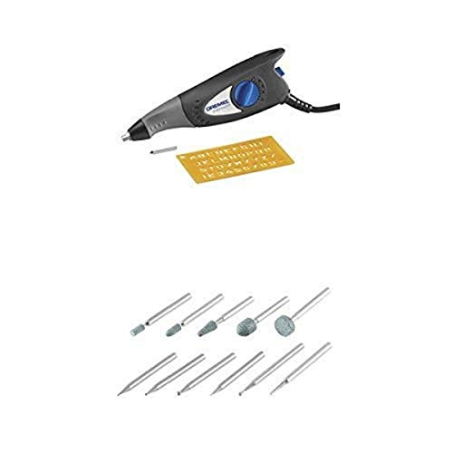 Dremel 7,200 Stroke Per Minute Engraver includes Letter and Number Template with Rotary Tool Carving and Engraving Kit