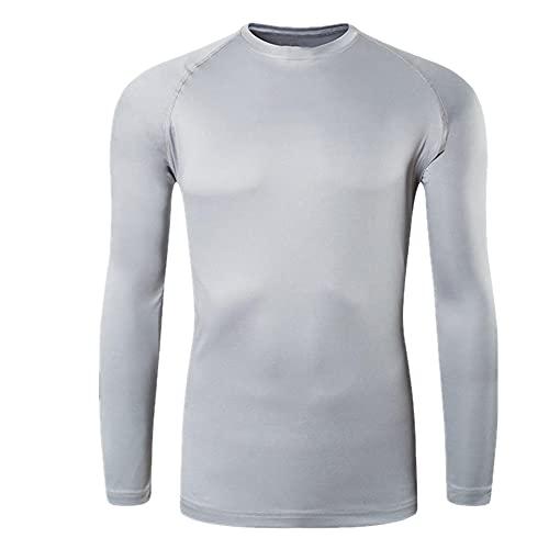 N\P Camiseta de manga larga para hombre de talla grande de protección al aire libre
