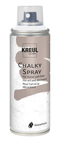 Kreul 76351 - Chalky Spray, matte Sprühfarbe mt Kreideoptik, auf Wasserbasis, hochpigmentiert und wasserfest, für Innen und Außen, 200 ml, Snow White