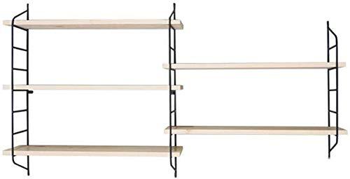 Wandplanken set van 3 drijvende ijzeren planken decoratieve wandplanken houten plank met onzichtbare bevestiging (grootte: 120 cm) 160cm