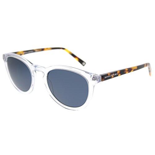 Banana Republic Johnny 900 KU Crystal Plastic Round Sunglasses Blue Lens, 51-21-140