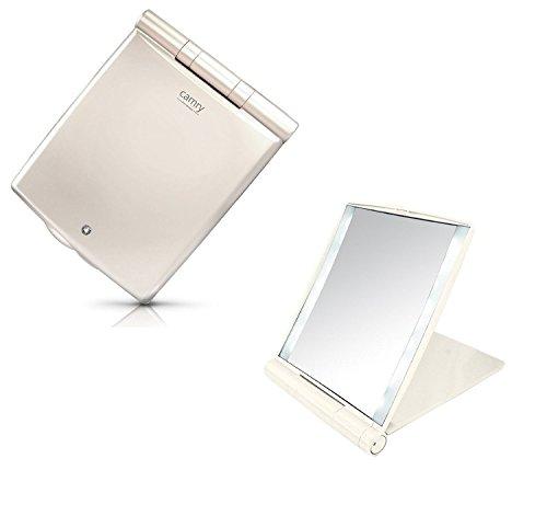 Maquillage Miroir avec Swarovski pierre de qualité supérieure avec éclairage portable miroir cosmétique grossissant 3