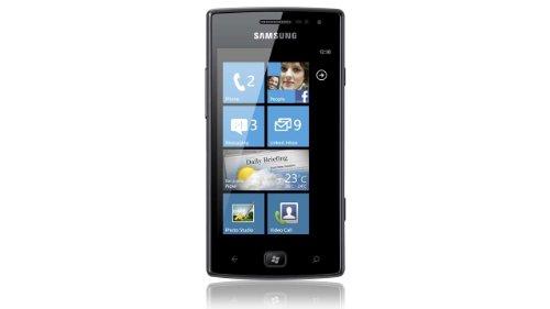 Samsung Omnia W i8350 Smartphone (9,4 cm (3,7 Zoll) Touchscreen, 5 Megapixel Kamera, Windows Phone Mango OS) metallic-black