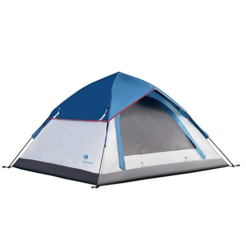 Mobihome 3 Person Tents for Camping, Instant Backpacking Quick Tent Easy Set Up, Portable 2 Person Dome Tent for Hiking & Mountain Outdoor, with Rainfly and Ventilated Top Mesh - 7' x 6.3