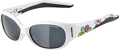 ALPINA Unisex - Kinder, FLEXXY KIDS Sportbrille, white flower gloss, One Size