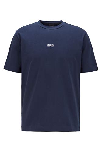 BOSS Hommes TChup T-Shirt Relaxed Fit en Coton Stretch, à Logo superposé
