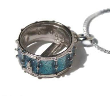 Snare Drum Necklace - Blue