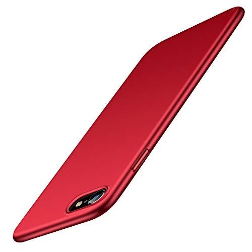 TORRAS für iPhone SE 2020/8/7 Hülle [Ultra Dünn Wie Ohne Hülle] mit [2 Stück Schutzglas] Stoßfest Unzerstörbare iPhone SE Hülle/iPhone 8 Hülle/iPhone 7 Hülle Slim Hülle iPhone SE 2020/8/7- Rot