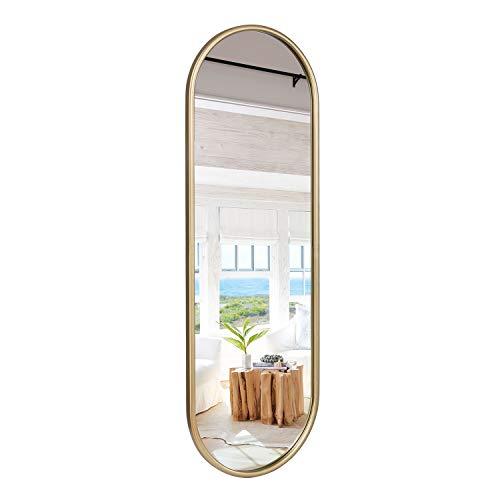 VVK Gold Full Length Oval Mirror for Bathroom Wall