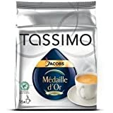 Tassimo Jacobs Me'daille D'or 16 T-Discs (Pack of 4)