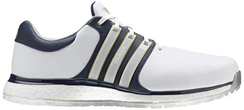 adidas Herren Tour360 Xt-sl(Wide) Golfschuhe, Weiß (Blanco/Navy F34991), 45 1/3 EU