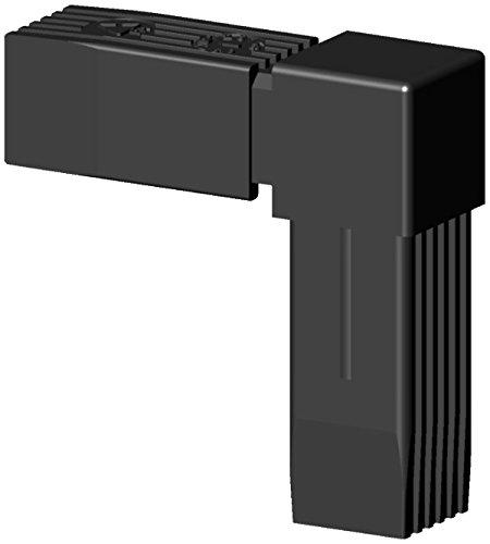 Winkel Steckverbinder mit verzinktem Stahlkern - Kunststoffummantelt mit Kopf - für 30x30x1,5mm Profil