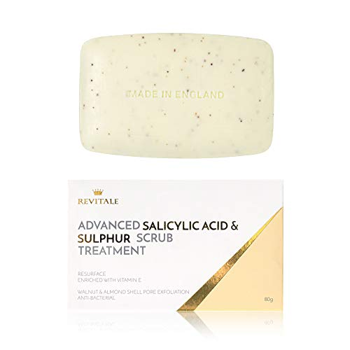 Revitale Advanced Jabón para tratamiento exfoliante con ácido salicílico y azufre
