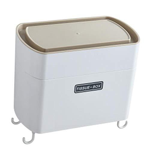 Yunly Soporte de papel higiénico montado en la pared, soporte de papel rollo con soporte para teléfono, se puede utilizar para estante de almacenamiento de papel higiénico en baño y cocina (Khaki)